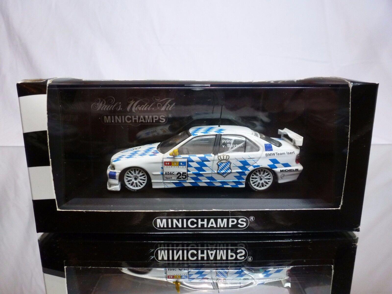 MINICHAMPS BMW 320i E36 STW 1997 - LEOPOLD V. BAYERN WHITE 1 43 RARE - EXCELLENT