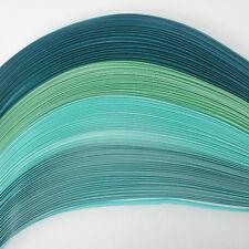 100 Quilling Autoadesivo strisce di carta nei toni del turchese-larghezza 5mm