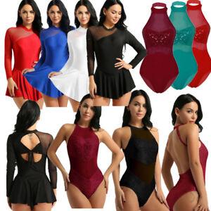 Women-Adult-Ballet-Dress-Gymnastics-Tutu-Skirt-Skate-Dance-Dress-Leotard-Costume