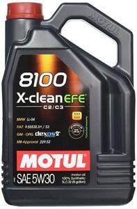 5-Lt-Litri-Olio-Motore-Motul-8100-X-CLEAN-EFE-C2-C3-100-Sintetico