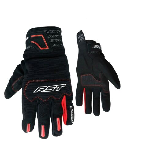 RST Rider Black / Red Moto CE Lightweight Hybrid Synthetic GlovesAll Sizes