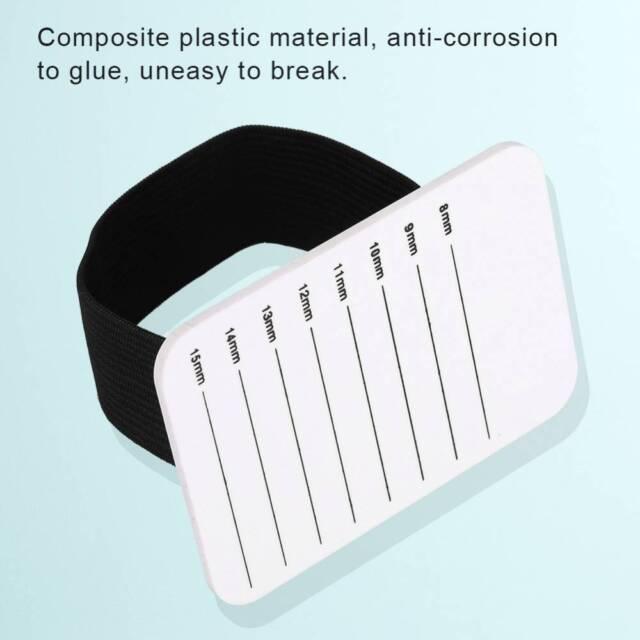 Acrylic Pallet Eyelash Tile Palette with Belt Adhesive Glue Ceramic Holder Tools