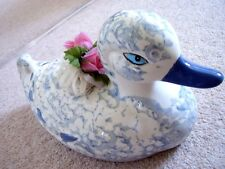 Collectable C Loomoo porcelain large  DUCK figure -ornament