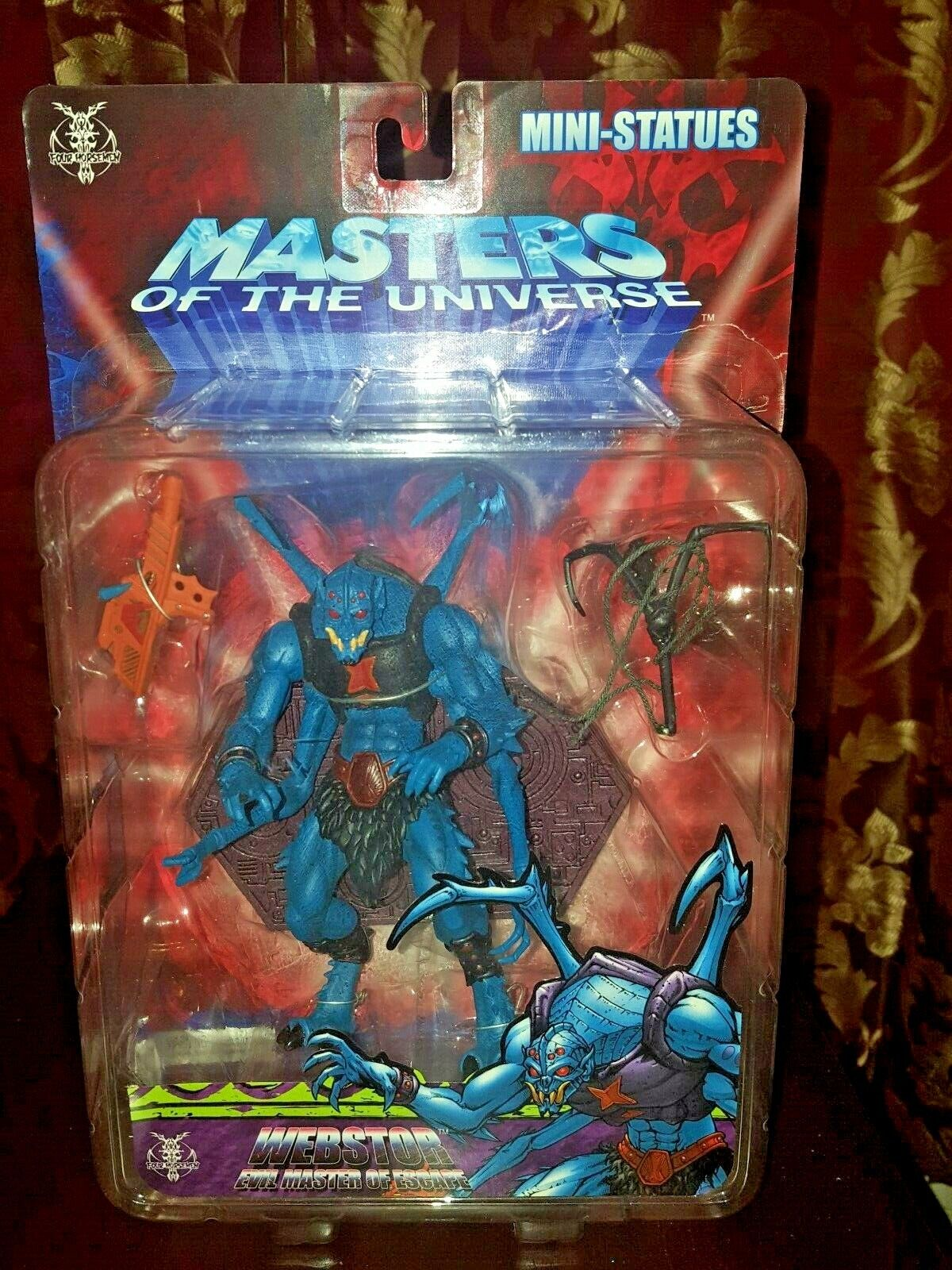 He-Man Masters of the Universe 200X Webstor NECA Mini-Statue Staction Not Mint