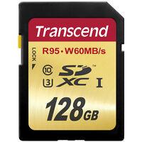 Transcend 128gb Sdxc Class 10 Memory Card (95mb/s) Ts128gsdu3- Authorized Dealer