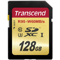 Transcend 128gb Sdxc Class 10 Memory Card (95mb/s) Ts128gsdu3- Authorized Dealer