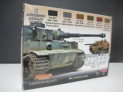 Lifecolor - CS 03 German Tanks Set 2 Camouflage Acrylic Paint Sets