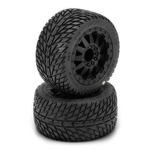 PROLINE 117214 1 10 Road Rage 2.8 Inch All All All Terrain Tires Mounted Rustler Jato ab9220