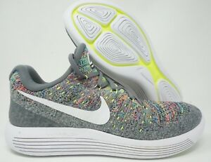 ae5045b8ee11 Nike Lunarepic Low Flyknit 2 Mens Running Shoes Cool Grey White Size ...