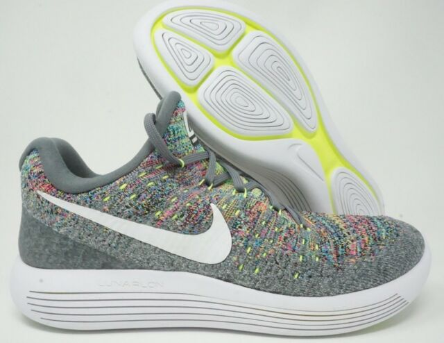 ddcb0f2206b9 Nike Lunarepic Low Flyknit 2 Mens Running Shoes Cool Grey White Size 10