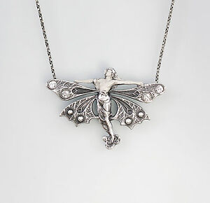 9901326-925er-Silber-Collier-mit-Swarovski-Steinen-Fee