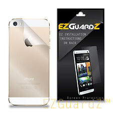 5X EZguardz Clear BACK ONLY Screen Protector Shield 5X For Apple iPhone 5S