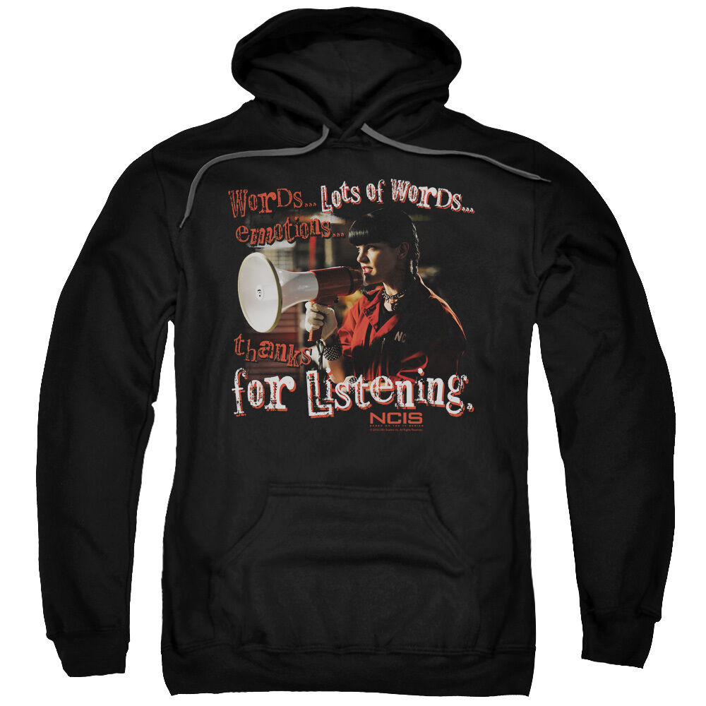 NCIS Abby Sciuto THANKS FOR LISTENING Licensed Sweatshirt Hoodie