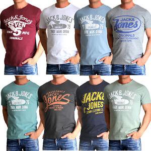 Jack-amp-Jones-Herren-T-Shirt-Regular-Round-Fit-Rundhals-kurzarm-S-3XL-UVP-14-99