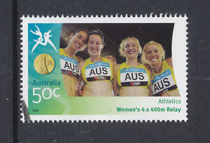2006-COMM-GAMES-50c-STAMP-SUPERB-CTO-FULL-GUM-SCAN-A23