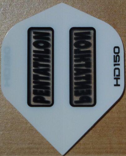 10 Sets Weiß Pentathlon HD 150 Mikron Dart Flights