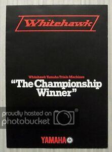 YAMAHA-WHITEHAWK-80-175-200-TRIALS-MOTORCYCLES-Sales-Brochure-c1979