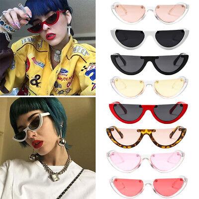 Vintage Shades Half Frame Sunglasses Unique Women Cat Eye Fashion Ladies 5COLOR