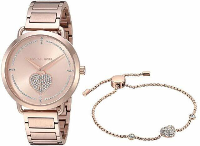 Michael Kors MK3827 Rose Gold Tone Bracelet Heart Ladies