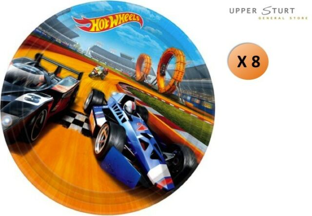 Hot Wheels Dinner Plates 8 Pack Paper Birthday Party Supplies