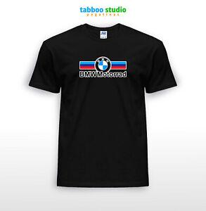 T-shirt-manica-corta-stampata-cotone-logo-BMW-Motorrad-Paris-Dakar-Motorrad