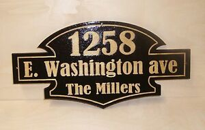 Personalized Door Wood Sign,Mailbox House Numbers,Last name.Laser Engraved.Gift.
