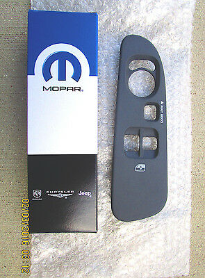 06-08 DODGE RAM 2D STANDARD MASTER POWER WINDOW SWITCH BEZEL TRIM MEDIUM SLATE