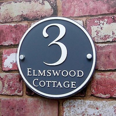 Personalised House Sign Door Number Street Address Plaques Modern Glass Effect
