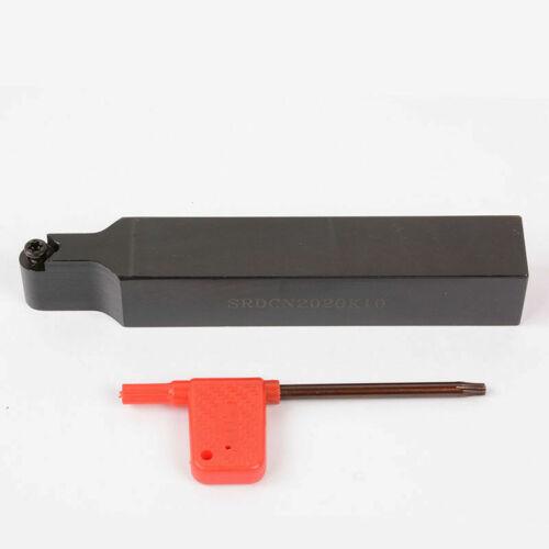 1pc RCMT10T3M0 YBC251 SRDCN2020K10 20x125mm Lathe External Turning Tool Holder