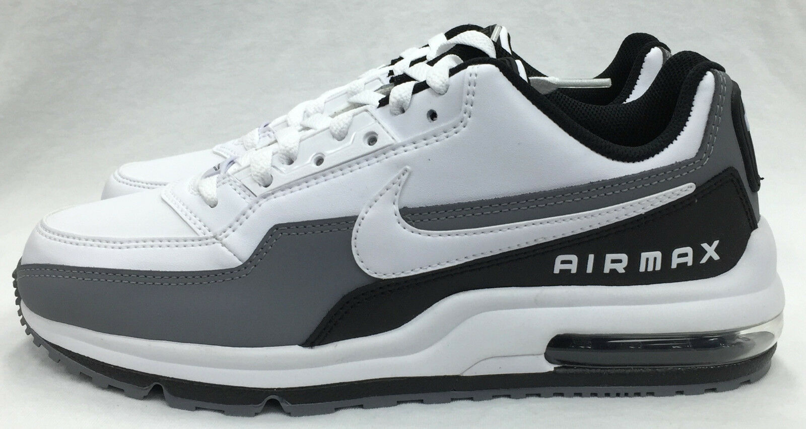 NEW MEN'S NIKE AIR MAX LTD 3 687977-119 WHITE WHITE-BLACK-COOL GREY