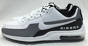 NEW MEN S NIKE AIR MAX LTD 3 687977-119 WHITE WHITE-BLACK-COOL GREY ... 988f02c8e8b8
