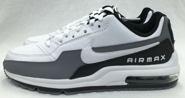 new concept 52d9f ee837 Nike Air Max Ltd 3 White Black Cool Grey Running 687977-119 10.5