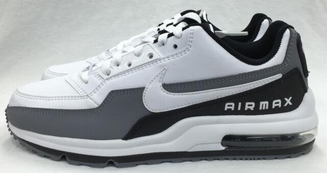 new concept 12123 49d26 Nike Air Max Ltd 3 White Black Cool Grey Running 687977-119 10.5
