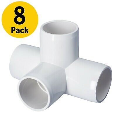 Build Heavy Duty PVC Furniture PVC Elbow Fittings Toolly 8 Pack 4Way 1inch Tee PVC Fitting Elbow 1in