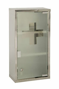 locking bathroom cabinet wall mounted lockable 2 large medicine cabinet 13519