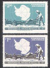 Chile 1972 Antarctic/Treaty 10th Anniversary/Dogs/Transport/Map 2v set (n24155)