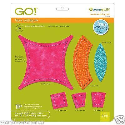 AccuQuilt GO! Double Wedding Ring Fabric Cutting Die 55078 Quilting Applique Sew