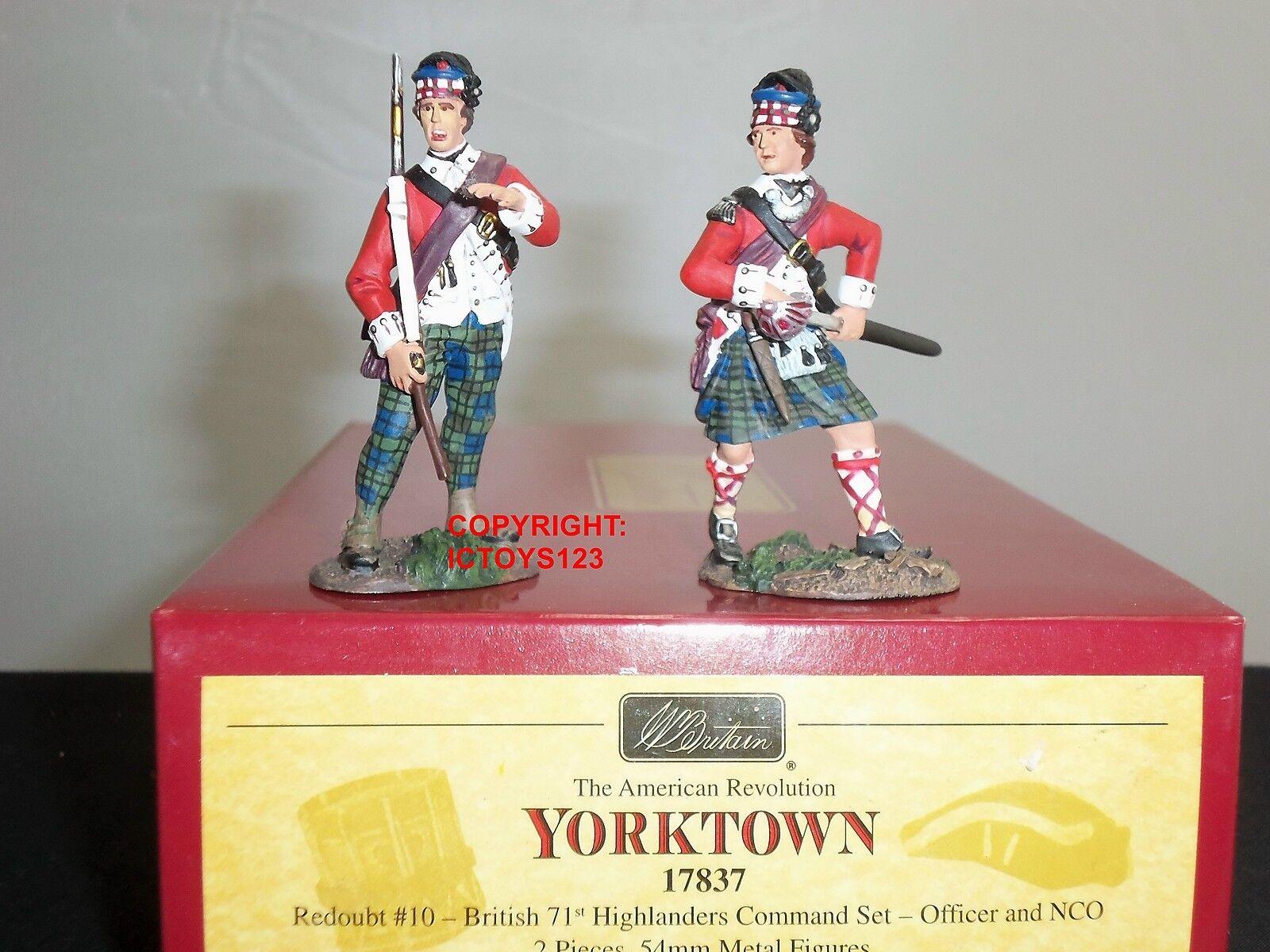Britains 17837 british 71ST highlanders officer  sous-officier toy soldier comFemmed set   Outlet Store Online