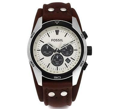 Genuine Fossil CH2890 Coachman Chronograph Brown Leather Strap 44mm Men's Watch
