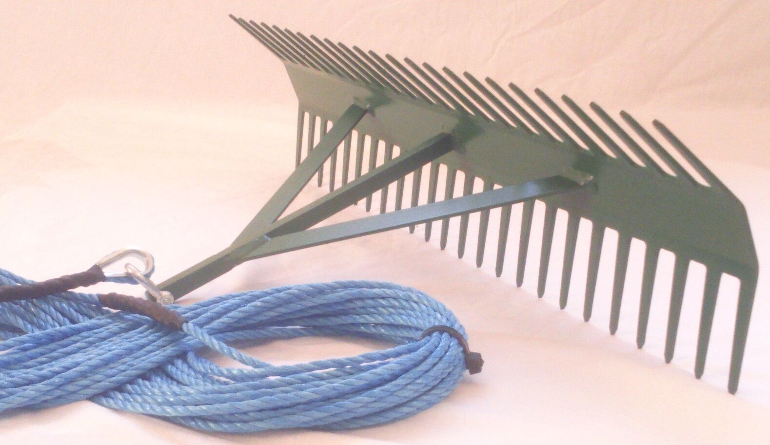 POND WEED RAKE 24  DOUBLE SIDED & 20 Metres ROPE