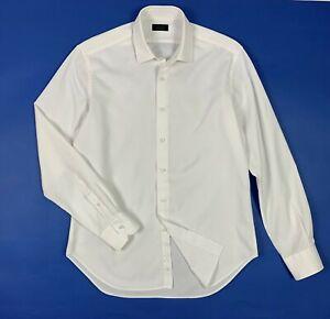 economico per lo sconto f2e0e cbba8 Dettagli su Zara man camicia shirts uomo usato L 42 bianca a righe strisce  used T5696