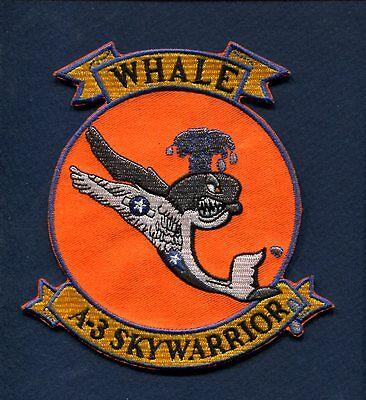 DOUGLAS A-3 SKYWARRIOR WHALE US NAVY VAQ VAH VAK Attack Squadron Jacket Patch