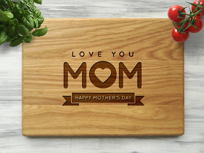 Mother/'s Day Personalized Cutting Board-Engraved Cheese board Gift for Mom D42