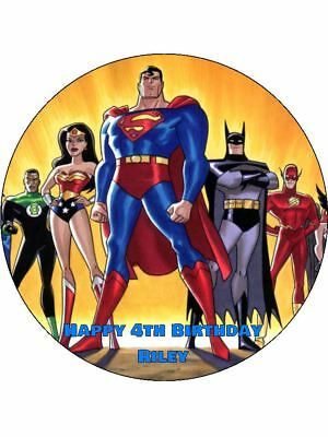 Fabulous Justice League 19Cm Edible Icing Image Birthday Cake Topper Party Funny Birthday Cards Online Kookostrdamsfinfo