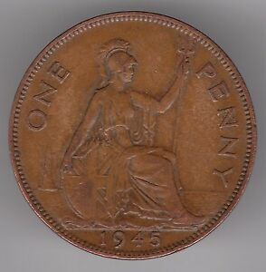 United Kingdom 1945 1d Penny Bronze Coin - Dukinfield, United Kingdom - United Kingdom 1945 1d Penny Bronze Coin - Dukinfield, United Kingdom