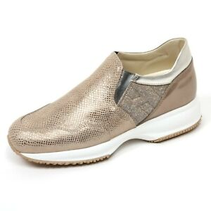 C8062 sneaker donna HOGAN INTERACTIVE scarpa Platino Slip on ...