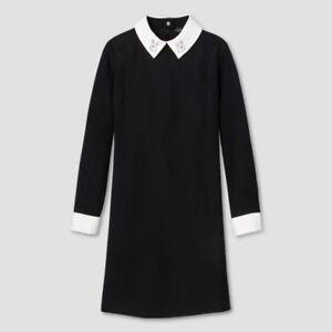 BRAND-NEW-W-TAG-Victoria-Beckham-Black-Bunny-Long-Sleeve-Dress