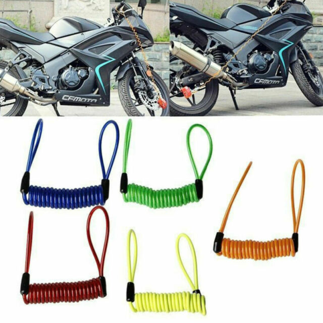 Motorcycle Security Alarm Disc Lock Spring Reminder Cable For Bike Scooter 120cm