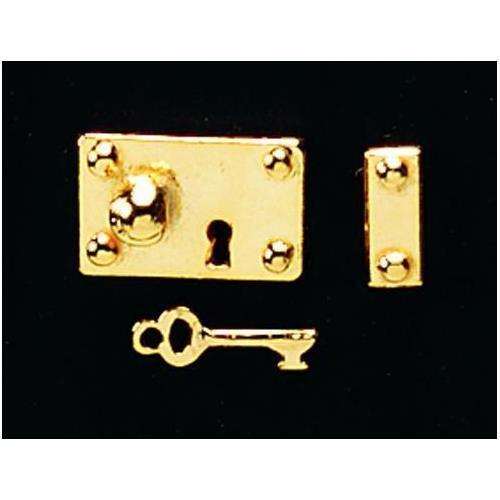 12 ª escala de latón Lock /& Key Set De Casa De Muñecas diy600