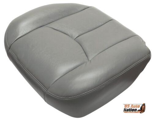 2004 2005 2006 Chevy Avalanche Silverado Driver Bottom Leather Seat Cover Gray